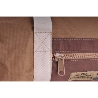 Holdall - Khaki and Brown