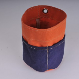 Desk Tidy - Orange and navy Blue