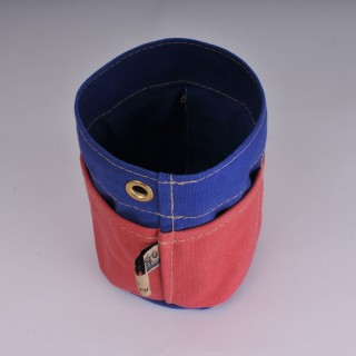 Desk Tidy - Red and Royal Blue