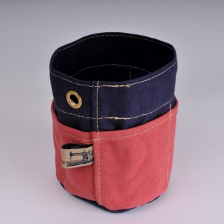 Desk Tidy - Navy Blue and Red