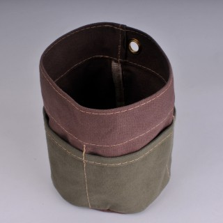 Desk Tidy - Brown and Olive