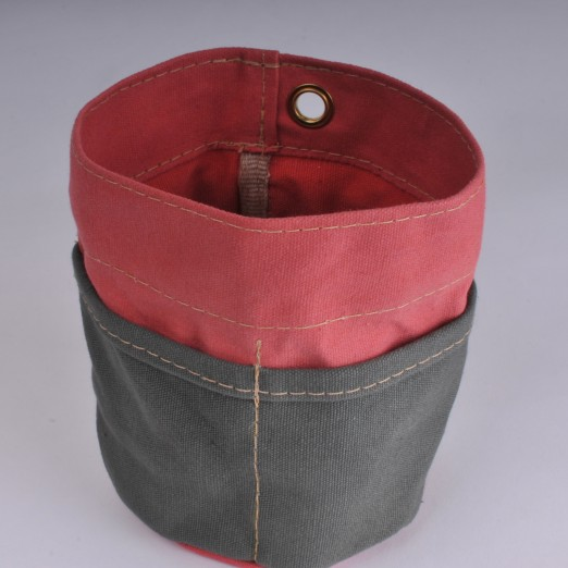 Desk Tidy - Red and Olive