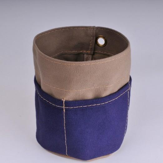 Desk Tidy - Khaki and Navy Blue