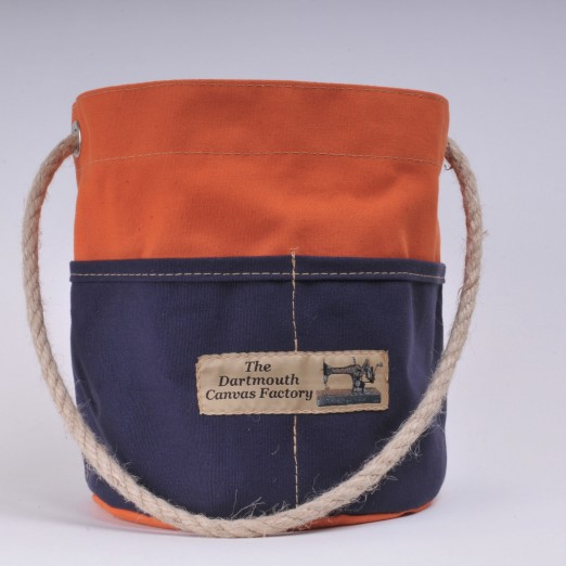 Bosun's Bucket - Orange and Navy Blue