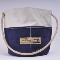 Bosun's Bucket - Natural and Navy Blue