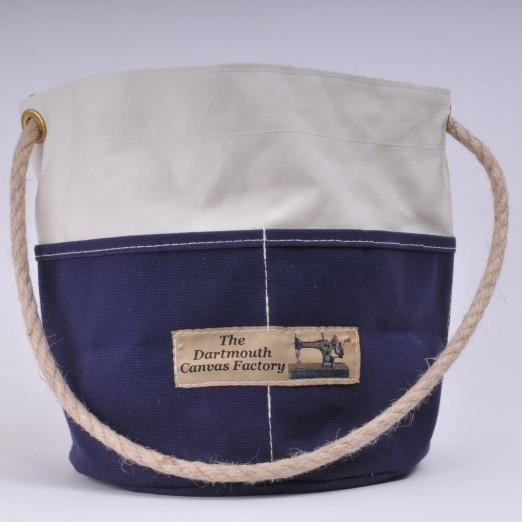 Bosun's Bucket - Natural and Navy Blue