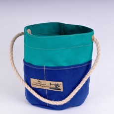 Bosun's Bucket Green and Royal Blue