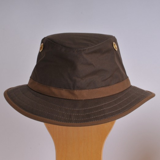 Waxed Cotton Tilley Hat - TWC7
