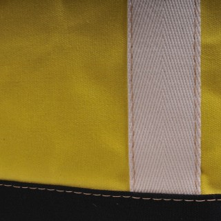 Zip Top Shopper - Yellow and Black