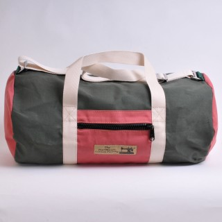 Holdall - Olive and red