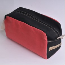 Wash Bag - Red and Black