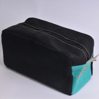 Wash Bag - Black and Green