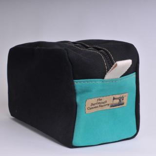 Wash Bag - Black and Green