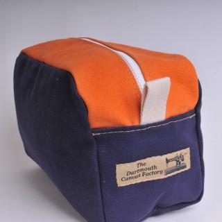 Wash Bag - Navy Blue and Orange