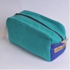 Wash Bag - Green and Royal Blue