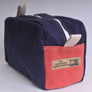 Wash Bag - Navy Blue and Red