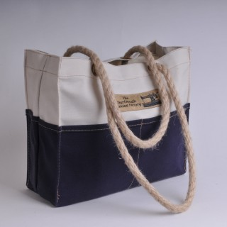 Tool Bag - Natural and Navy Blue