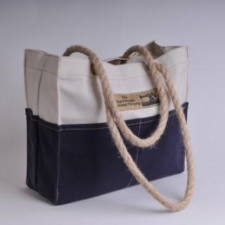 Tool Bag - Natural and Navy Blue