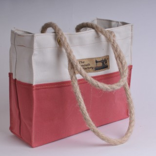 Tool Bag - Natural and Red