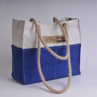 Tool Bag - Natural and Royal Blue