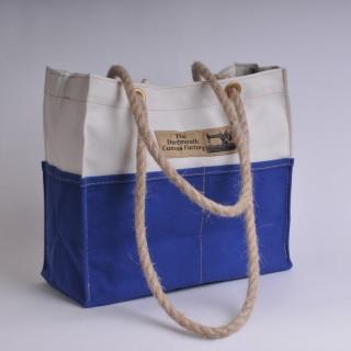 Tool Bag - Natural and Royal Blue
