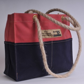 Tool Bag - Red and Navy Blue
