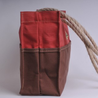 Tool Bag - Red and Brown