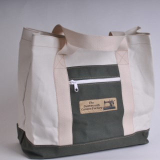 Canvas Shopper - Natural and Olive