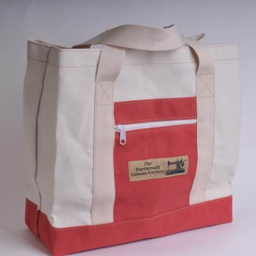 Canvas Shopper - Natural and Red