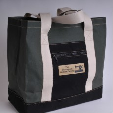 Canvas Shopper - Olive and Black