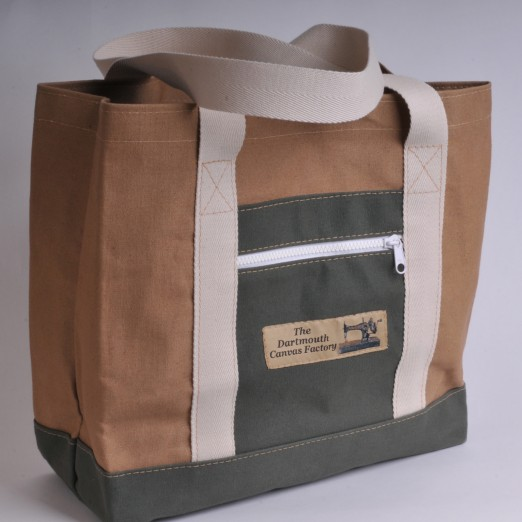 Canvas Shopper - Khaki and Olive