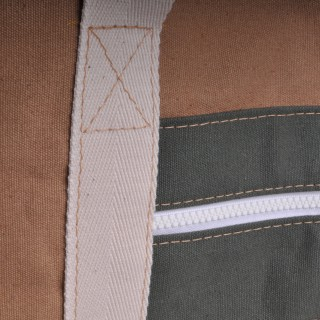 Canvas Shopper - Khaki and Olive