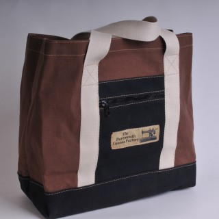 Canvas Shopper - Brown and Black