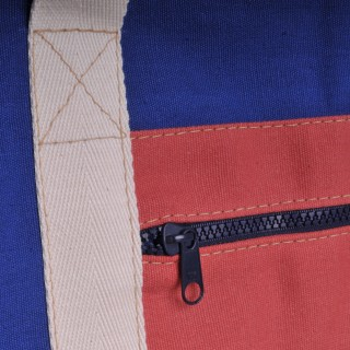 Canvas Shopper - Royal Blue and Red