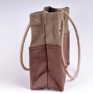 Tool Bag - Khaki and Brown