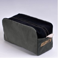 Wash Bag - Olive and Black