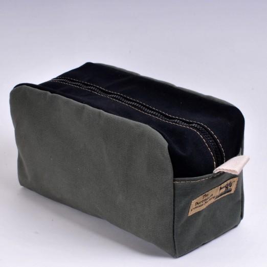 Wash Bag - Olive and Black