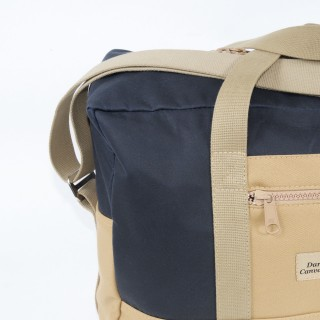 Airline carry on bag - Navy blue and tan