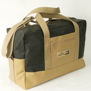 Airline carry on bag - Olive and Tan