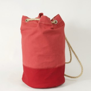 Waxed Cotton Duffel Bag - Red and Red