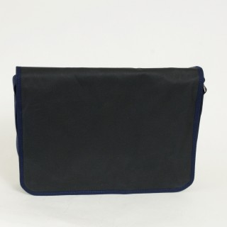 Waxed Cotton Laptop Bag - Navy and Navy