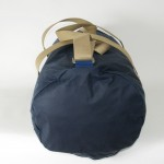 Holdall Waxed Cotton Navy Blue