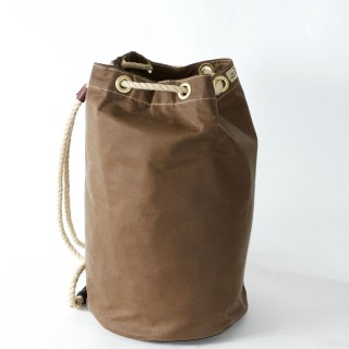 Waxed Cotton Duffel Bag - Brown
