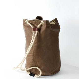 Waxed Cotton Duffel Bag - Brown