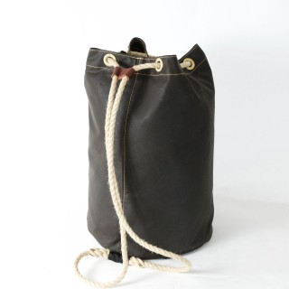 Waxed Cotton Duffel Bag - Olive