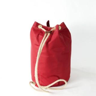 Waxed Cotton Duffel Bag - Red
