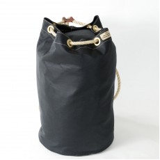 Waxed Cotton Duffel Bag - Navy