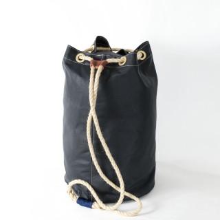 Waxed Cotton Duffel Bag - Navy
