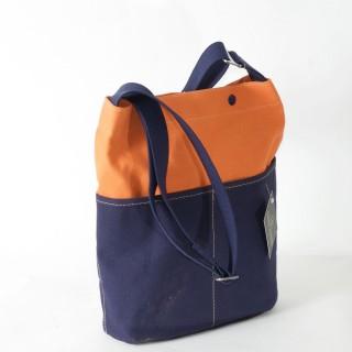 Forager bag - Orange with Navy