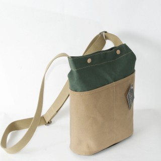 Forager bag - Olive with Tan